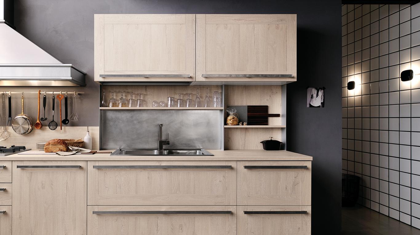 Maniglie Veneta Cucine.Cucina Moderna Veneta Cucine Ethica Arredamenti L Opera