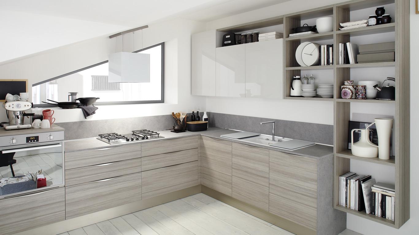 Veneta Cucine Maniglie.Cucina Moderna Veneta Cucine Start Time Up Arredamenti L Opera